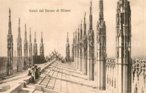 AK / Ansichtskarte Milano Saluti dal Duomo Milano