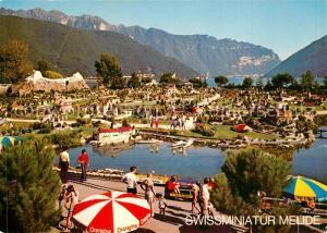 AK / Ansichtskarte Melide Swissminiatur Luganersee Alpen Melide