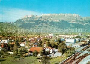 AK / Ansichtskarte Buchs_SG Panorama Blick zum Alpstein mit Kreuzberge Buchs_SG