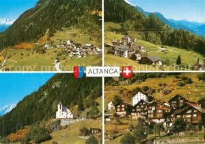AK / Ansichtskarte Altanca Panorama Bergdorf Kirche Alpen Altanca