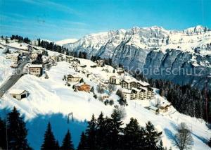 AK / Ansichtskarte Flums_SG Flumserberge Tannenbodenalp Ferienhaeuser Waldhaus Wintersportplatz Alpen Flums_SG