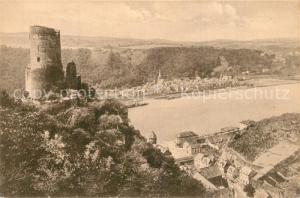 AK / Ansichtskarte St_Goar Panorama Blick ins Rheintal mit Burg Katz St_Goar