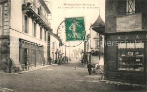 AK / Ansichtskarte Mouleydier Le Grund Coin la rue de la Gare Mouleydier
