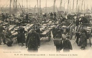 AK / Ansichtskarte Boulogne sur Mer Entree du Poisson a la Halle Boulogne sur Mer