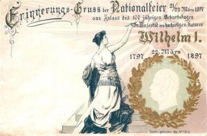 AK / Ansichtskarte Wilhelm_I Nationalfeier Litho