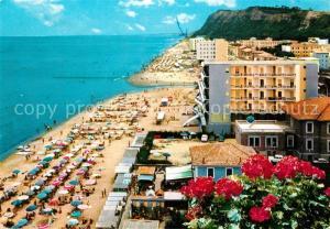 AK / Ansichtskarte Pesaro Spiaggia e Monte Ardizio Pesaro