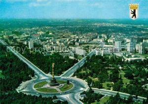 AK / Ansichtskarte Berlin Tiergarten Siegessaeule und Hansaviertel Berlin Tiergarten
