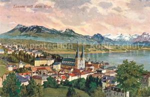 AK / Ansichtskarte Luzern_LU Panorama mit Rigi Luzern_LU
