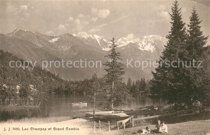 AK / Ansichtskarte Lac_Champex et Grand Combin Lac_Champex 0