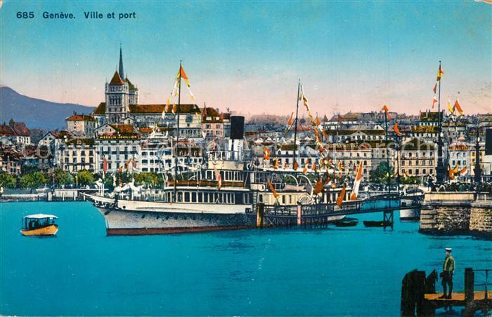 AK / Ansichtskarte Geneve_GE Ville et Port Geneve_GE 0