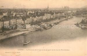 AK / Ansichtskarte Nantes_Loire_Atlantique Panorama de la Loire et de ses quais vus d haut du Transbondeur Nantes_Loire_Atlantique