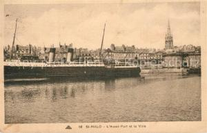 AK / Ansichtskarte Saint Malo_Ille et Vilaine_Bretagne Avant Port et la Ville Saint Malo_Ille et Vilaine