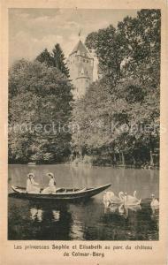 AK / Ansichtskarte Colmar_Berg Les princesses Sophie et Elisabeth au parc du chateau de Colmar Berg