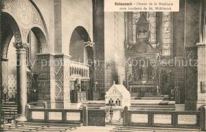 AK / Ansichtskarte Echternach Choeur de la Basilique avec tombeau de St Willibrord Echternach