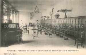 AK / Ansichtskarte Poperinghe Pensionnat des Dames de La Ste Union des Sacres Coeurs Salle de Recreation Poperinghe