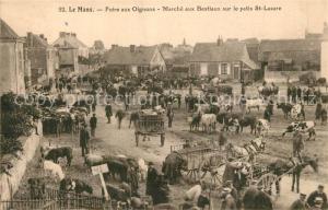 AK / Ansichtskarte Le_Mans_Sarthe Foire aux Oignons Marche aux Bestiaux sur le petis Saint Lazare Le_Mans_Sarthe