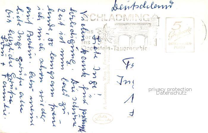 AK / Ansichtskarte Schladming_Obersteiermark Gesamtansicht mit Blick zur Scheichenspitze Dachsteingebirge Schladming_Obersteiermark 1
