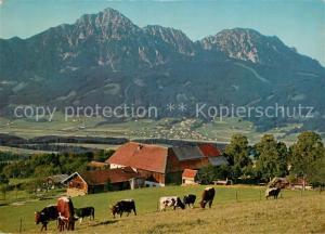 AK / Ansichtskarte Strobl Strobl Alm am Hoegel mit Hochstaufen Zwiesel Aufham Chiemgauer Alpen Strobl