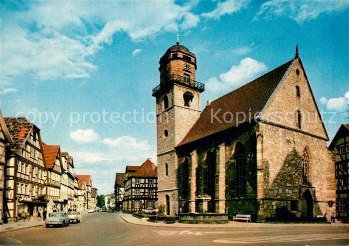 AK / Ansichtskarte Rotenburg_Fulda Jacobikirche mit Blick in die Breitenstrasse Rotenburg Fulda 0