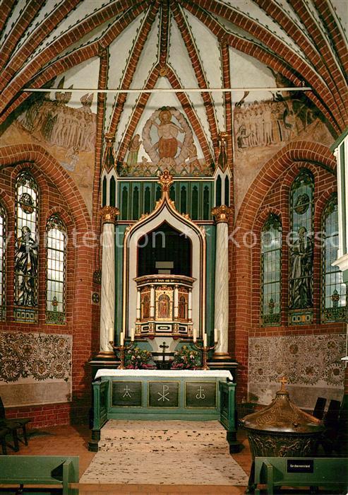 AK / Ansichtskarte Mueden_oertze Evangelische Kirche Innenansicht Mueden oertze 0