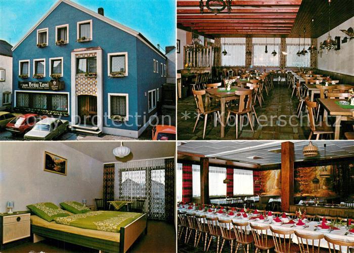 AK / Ansichtskarte Dietfurt_Altmuehl Gasthof Braeutoni Gastraum Festsaal Fremdenzimmer Dietfurt Altmuehl 0