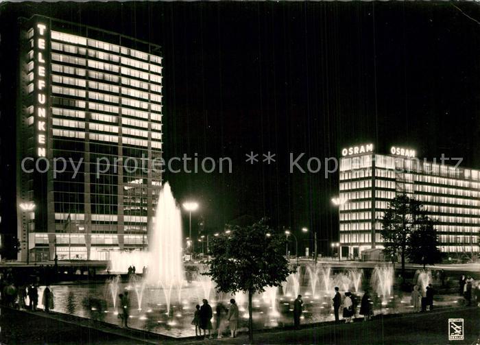 AK / Ansichtskarte Berlin Ernst Reuter Platz Wasserspiele Nachtaufnahme Berlin 0