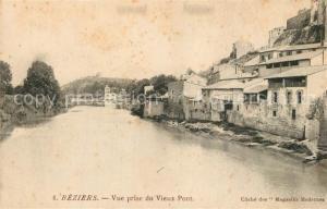 AK / Ansichtskarte Beziers Vue prise du Vieux Pont Beziers