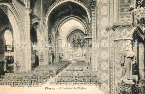 AK / Ansichtskarte Civray_Vienne Interieur de l Eglise Civray Vienne