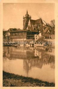 AK / Ansichtskarte Dole_Jura Eglise Notre Dame et Tanneries sur le Port Dole_Jura