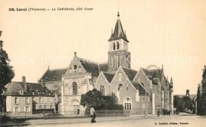 AK / Ansichtskarte Laval_Mayenne La Cathedrale cote Ouest Laval Mayenne