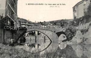 AK / Ansichtskarte Rennes les Bains Le vieux pont sur la Salz Rennes les Bains
