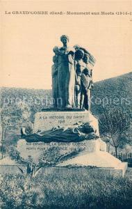 AK / Ansichtskarte La_Grand Combe Monument aux Morts La_Grand Combe