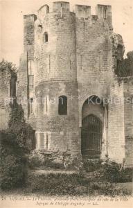 AK / Ansichtskarte Gisors_Eure Le Chateau Ancienne Porte principale du cote de la Ville Gisors Eure