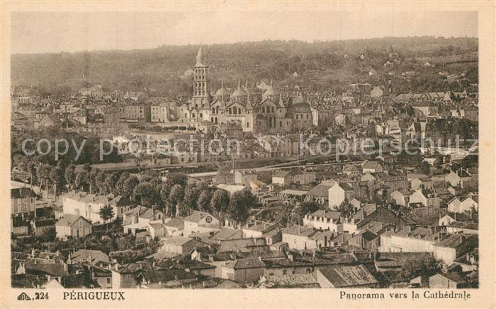 AK / Ansichtskarte Perigueux Panorama vers la Cathedrale Perigueux 0