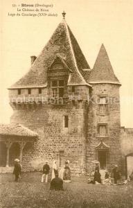 AK / Ansichtskarte Biron_Dordogne Le Chateau de Biron Loge du Concierge Biron Dordogne
