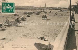 AK / Ansichtskarte Royan_Charente Maritime La Grande Conche Vue generale Royan Charente Maritime
