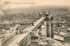 AK / Ansichtskarte Marseille_Bouches du Rhone Vue pris de N. D. de la Garde Marseille