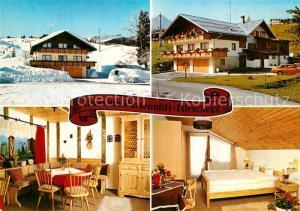 AK / Ansichtskarte Hirschegg_Kleinwalsertal_Vorarlberg Haus am Parsennlift Hirschegg_Kleinwalsertal