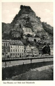 AK / Ansichtskarte Idar Oberstein Partie an der Nahe Blick zur Felsenkirche Idar Oberstein
