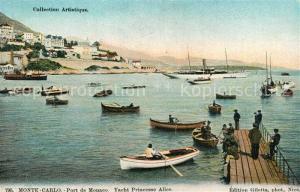 AK / Ansichtskarte Monte Carlo Port de Monaco Yacht Princesse Alice Monte Carlo
