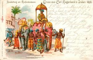 AK / Ansichtskarte Hagenbeck Indien Indische Prozession Kurf?rstendamm Litho Berlin