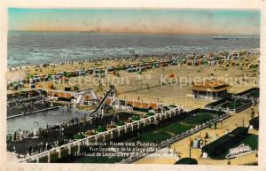 AK / Ansichtskarte Trouville sur Mer Vue generale de la plage et la piscine Reine des Plages Trouville sur Mer