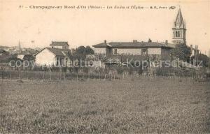 AK / Ansichtskarte Champagne au Mont d_Or Les ecoles et l eglise Champagne au Mont d Or