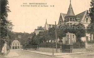 AK / Ansichtskarte Montmorency Avenue Emilie et la Gare Montmorency