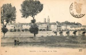 AK / Ansichtskarte Macon_Saone et Loire La Saone et la ville Macon Saone et Loire