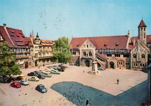 AK / Ansichtskarte Braunschweig Alstadt Burgplatz Braunschweiger Loewe und Dom Braunschweig
