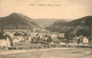 AK / Ansichtskarte Digne les Bains Vue generale et Place du Tampinet Montagnes Digne les Bains