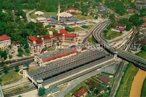 AK / Ansichtskarte Kuala_Lumpur Railway Station and National Mosque aerial view Kuala_Lumpur