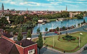 AK / Ansichtskarte Groningen Stationsplein met Verbindingskanaal Groningen