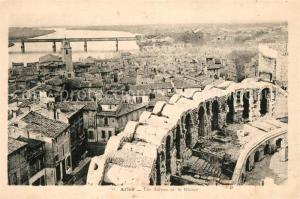 AK / Ansichtskarte Arles_Bouches du Rhone Les Arenes le Rhone Arles_Bouches du Rhone